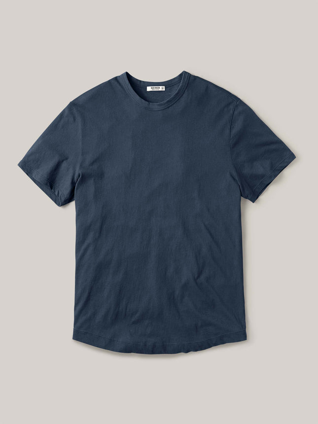 Faded Blue Venice Wash Costa Curved Hem Tee