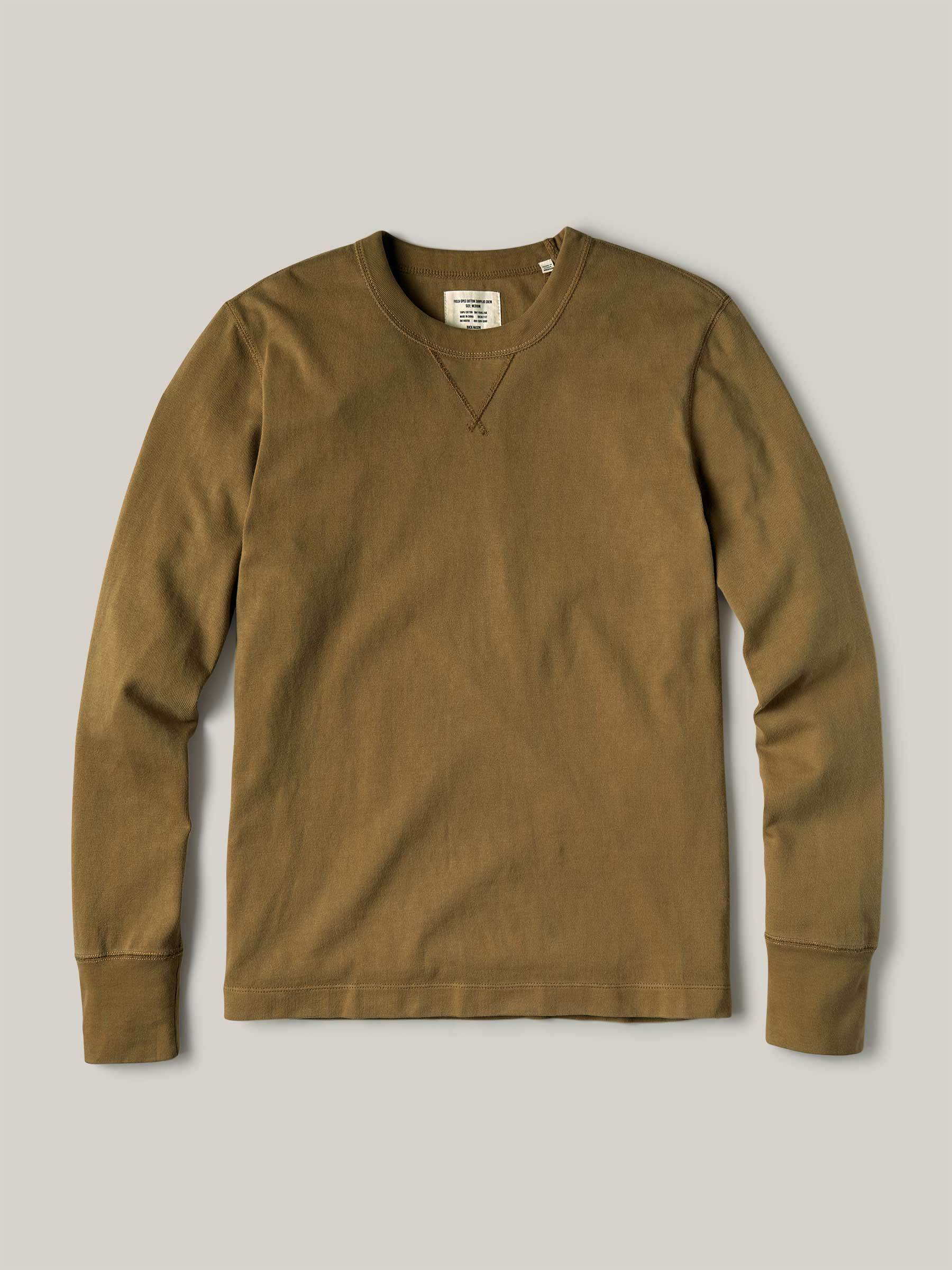 Buck Mason - Bronze Venice Wash Field-Spec Cotton Surplus Crew