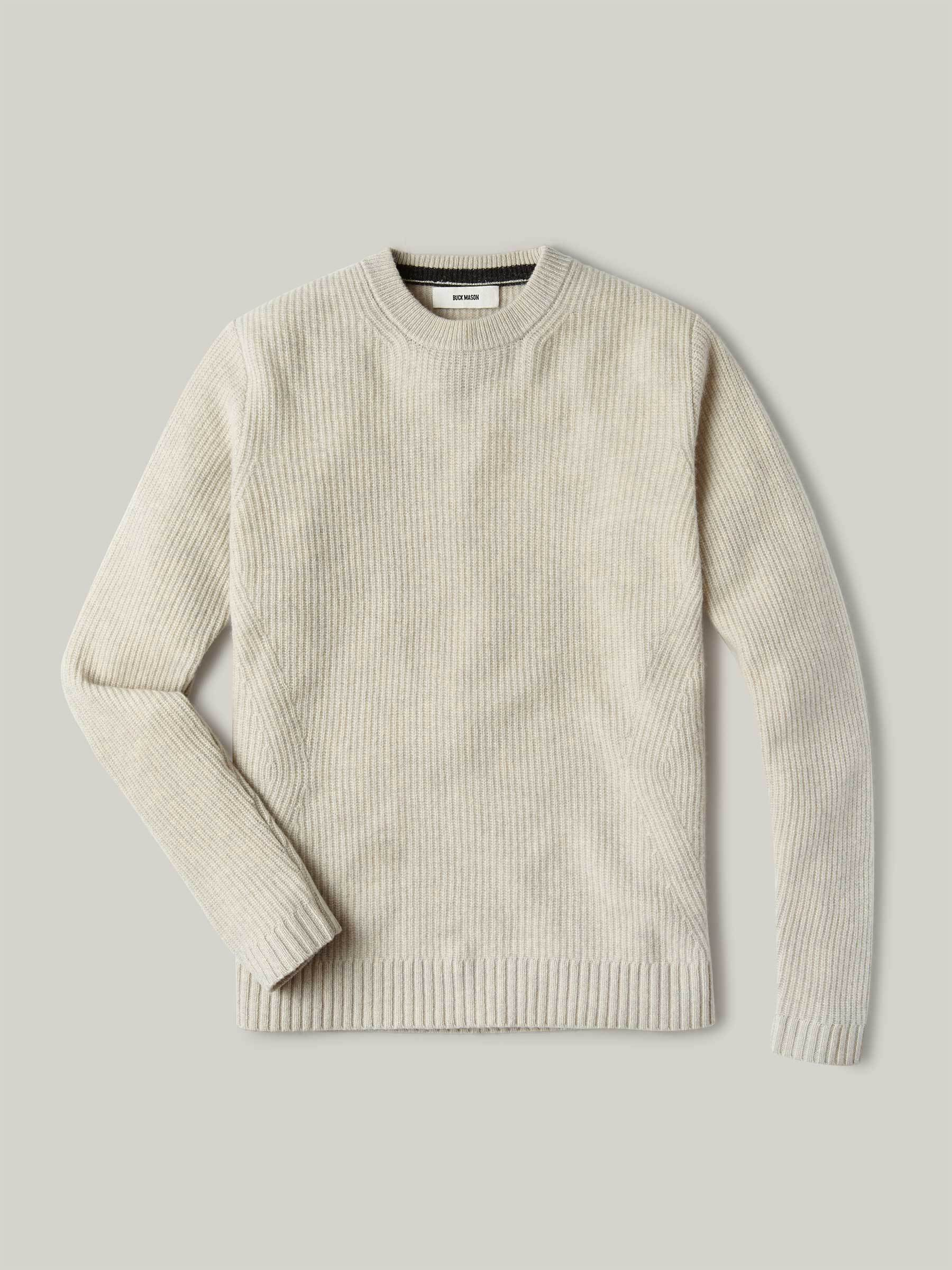 Buck Mason - Natural Five Gauge Fisherman Rib Sweater