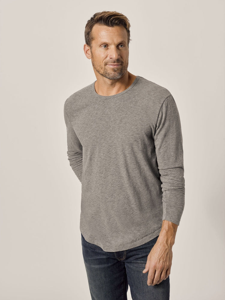 Heather Grey Long Sleeve Vintage Tri-Blend Tee