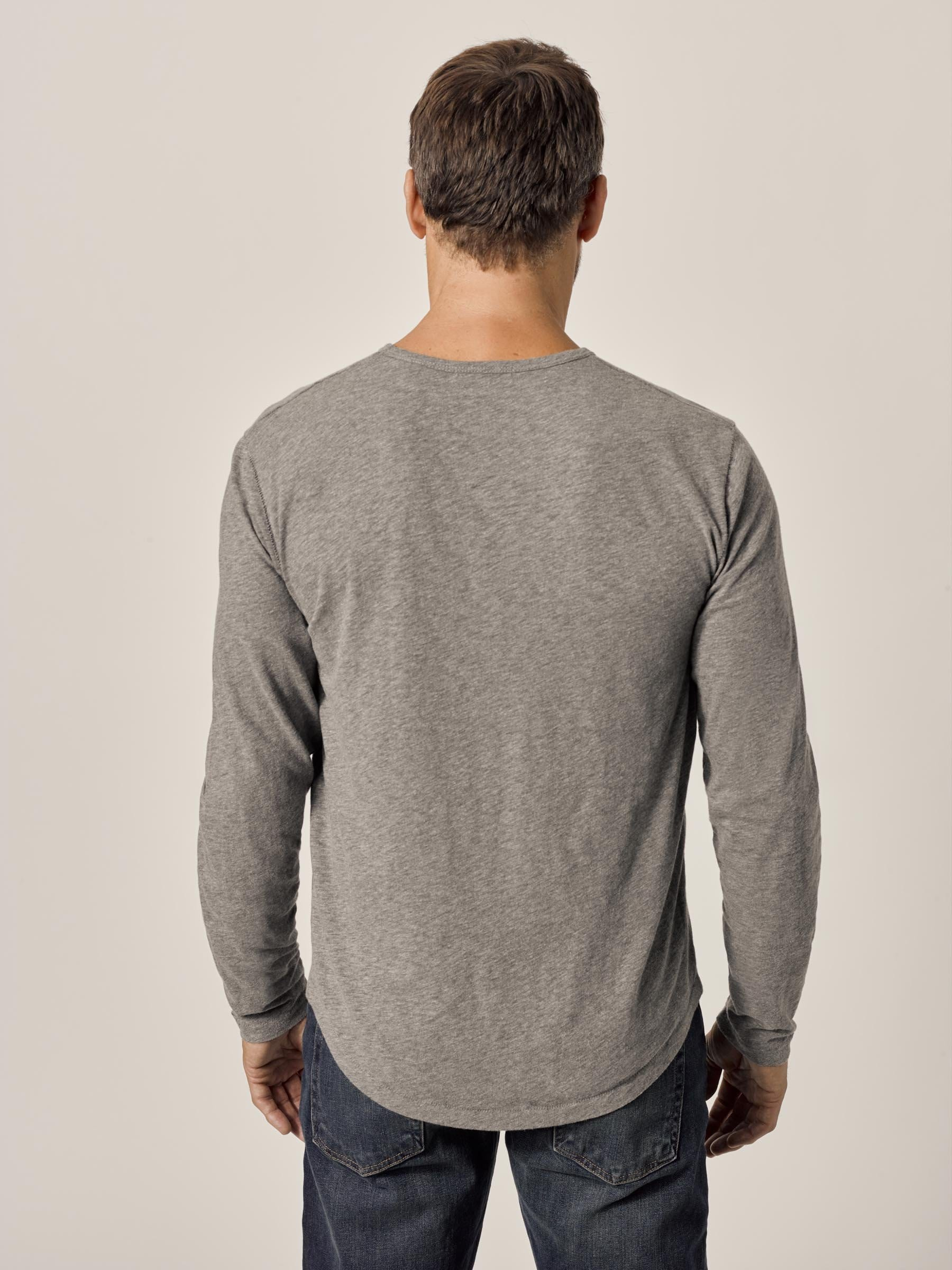 Buck Mason - Heather Grey Long Sleeve Vintage Tri-Blend Tee