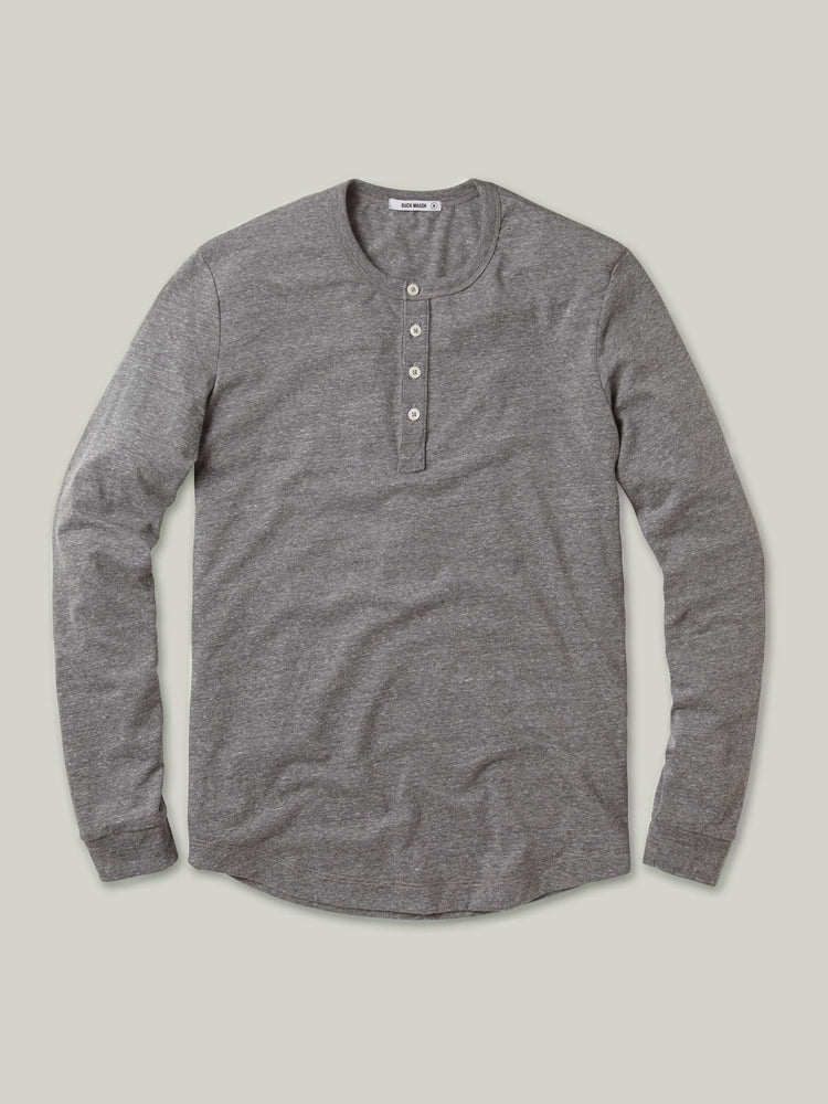 Heather Grey Vintage Tri-Blend Henley