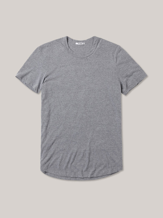 Heather Grey Vintage Tri-Blend Curved Hem Tee