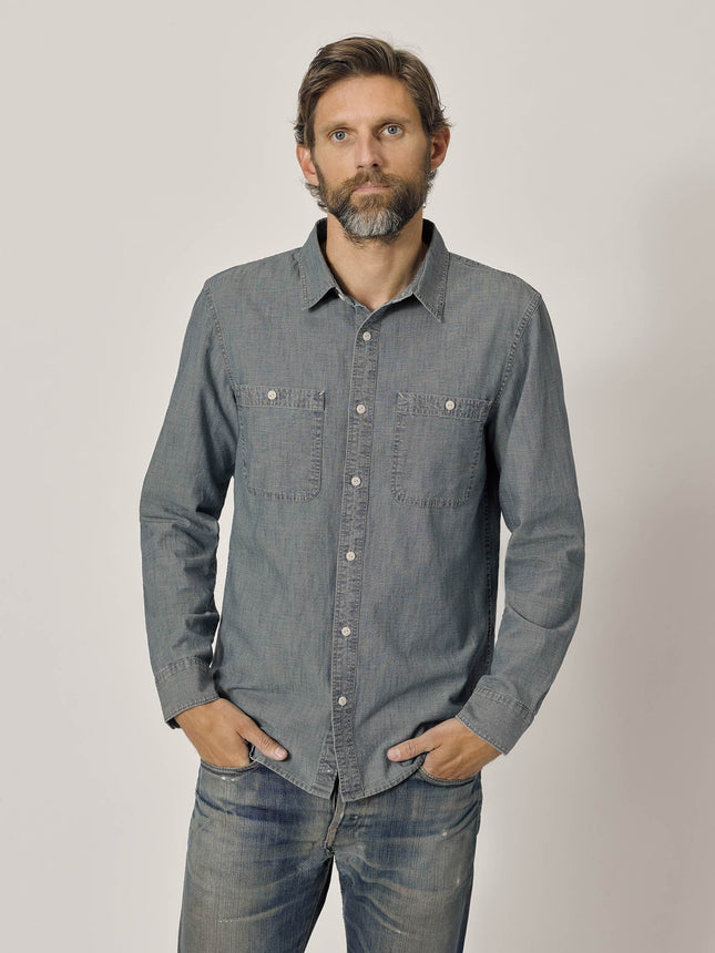 M008 Medium Wash Chambray Work Shirt