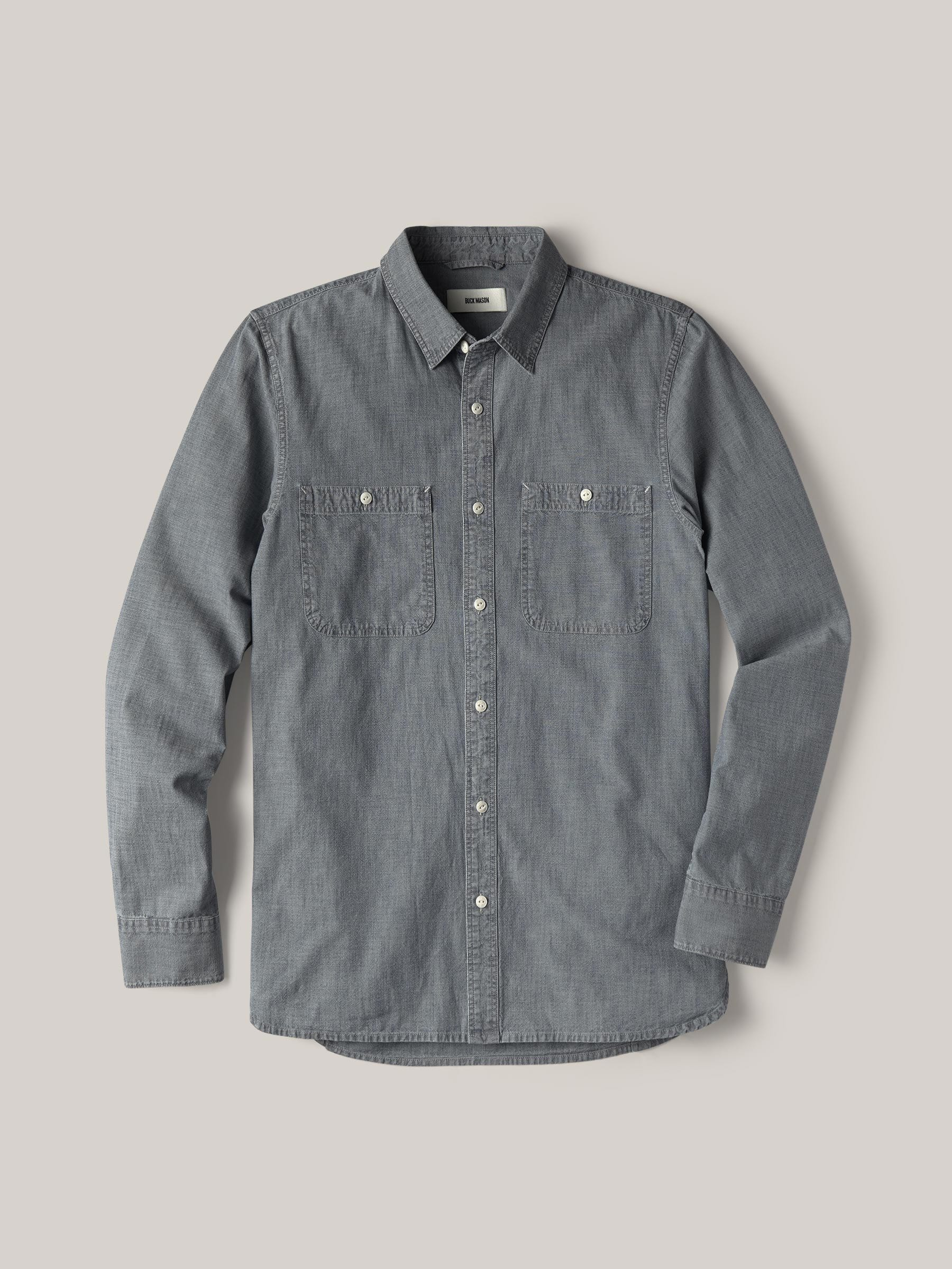 Buck Mason - M008 Medium Wash Chambray Work Shirt