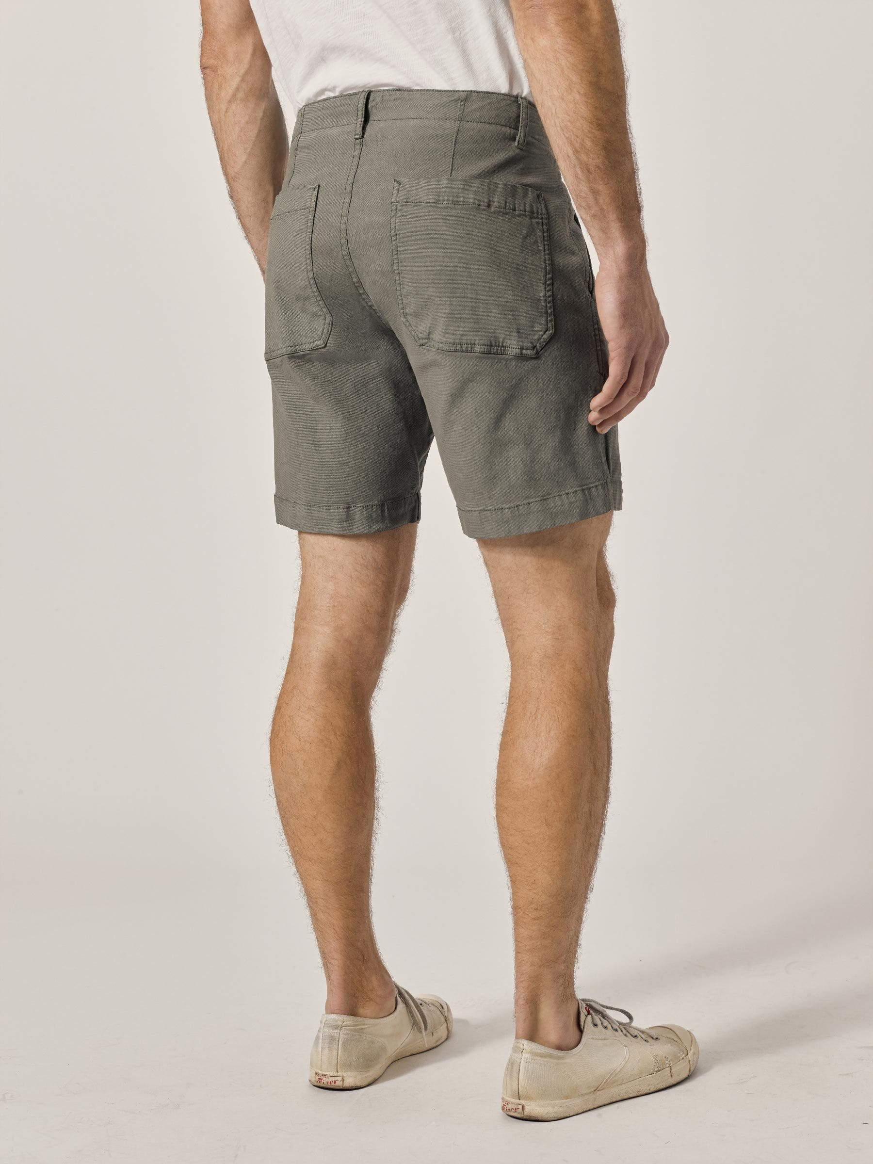 Buck Mason - Moss Vintage Canvas Walk Short