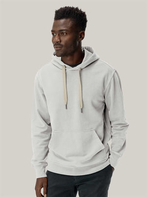 natural Brushed Loopback Hooded Sweatshirt