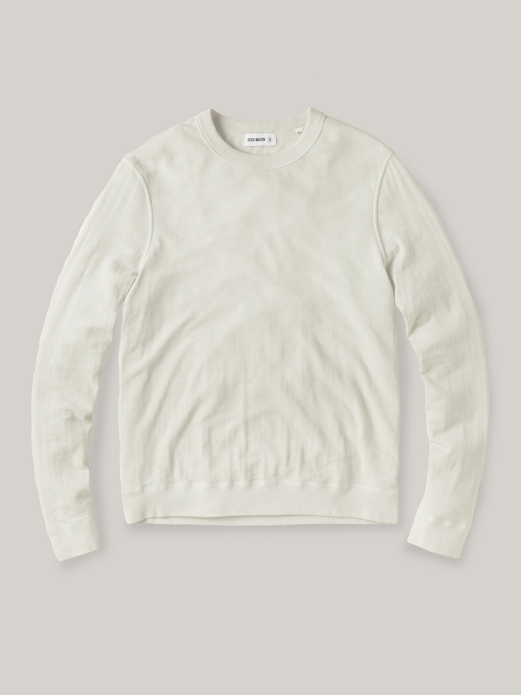 Buck Mason - Natural Lightweight Double Slub Sweatshirt