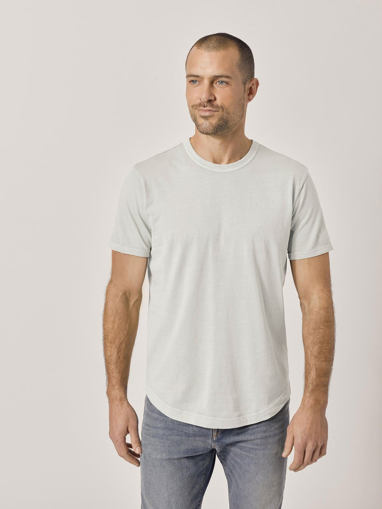 Natural Pima Curved Hem Tee