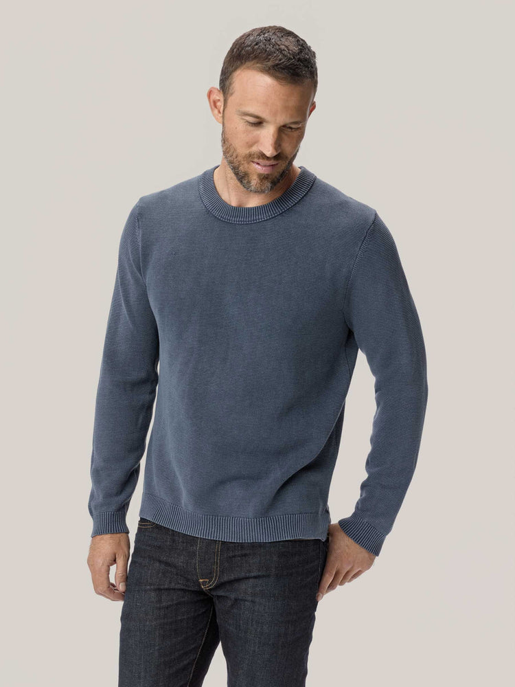 Navy Vintage Dyed Cotton Traveler Sweater