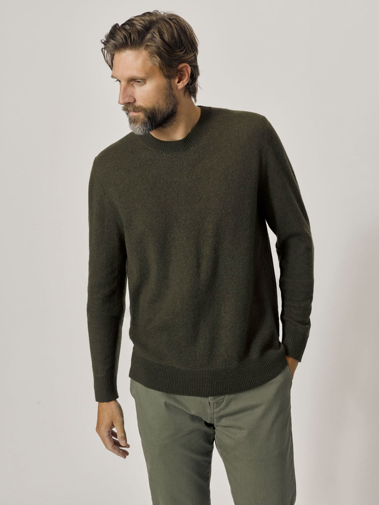 Pike Felted Fine Gauge Classic Crew Sweater