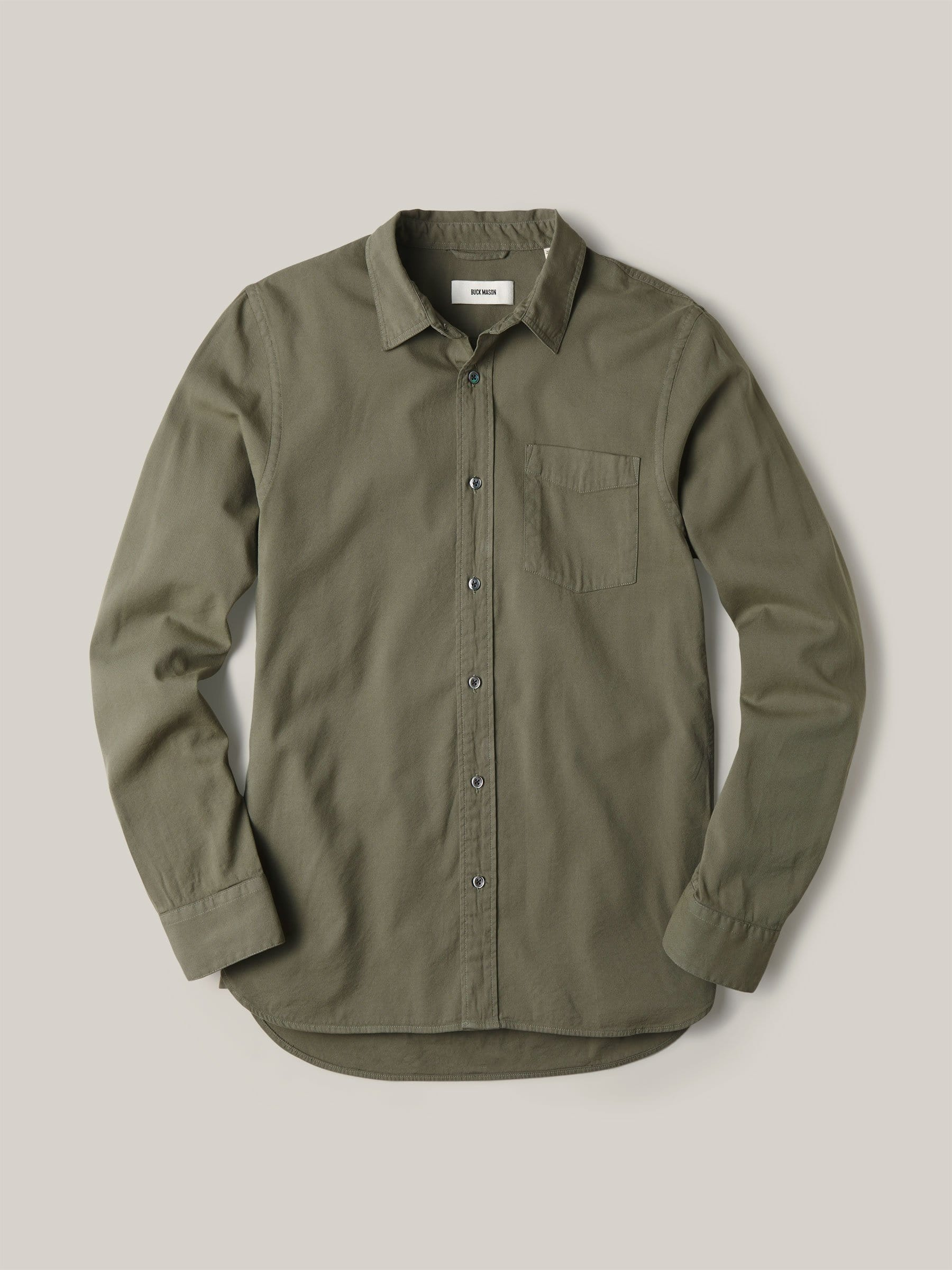 Buck Mason - Sage Draped Twill One Pocket Shirt