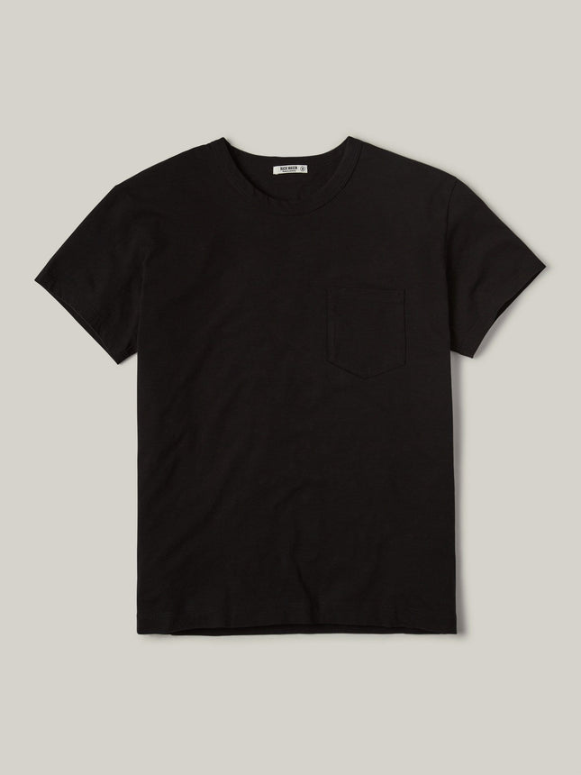 Black Slub Vintage Pocket Tee
