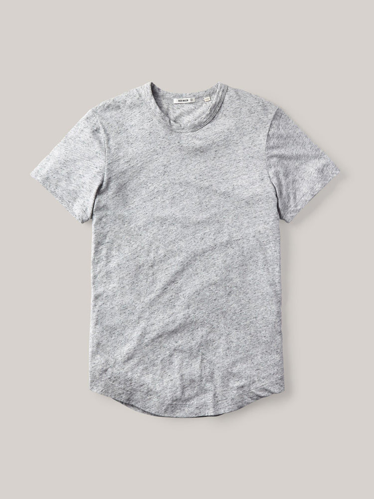 Smoke Grey Vintage Tri-Blend Curved Hem Tee