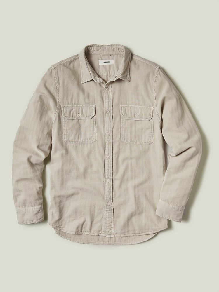 Stone Double Weave Vintage Two Pocket Shirt
