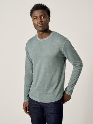 Surf Venice Wash Long Sleeve Slub Curved Hem Tee