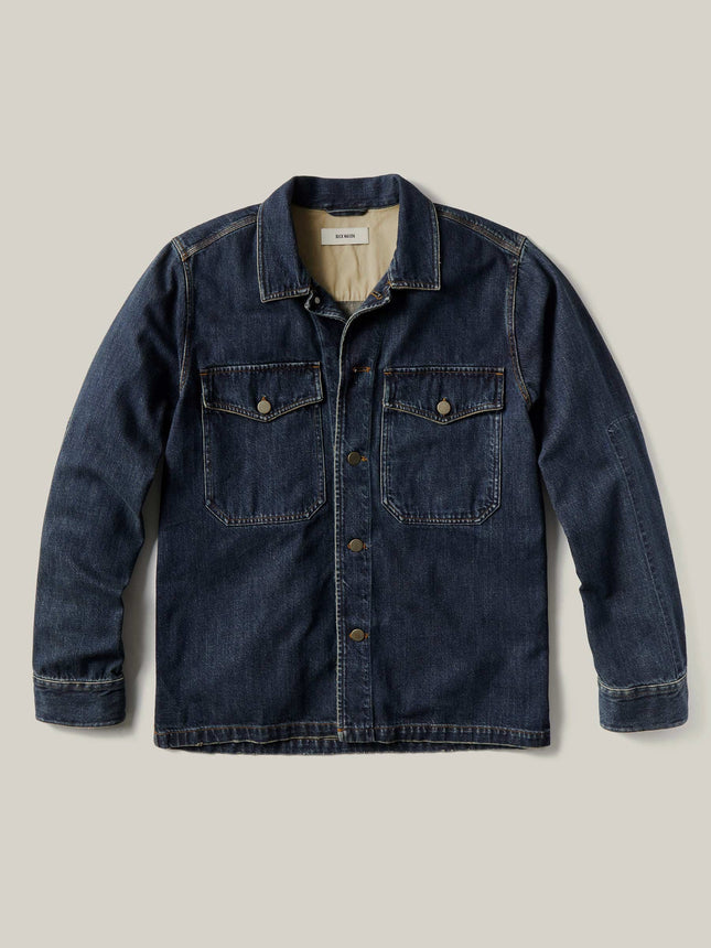 D002 Dark Wash Denim Two Pocket Field Shirt