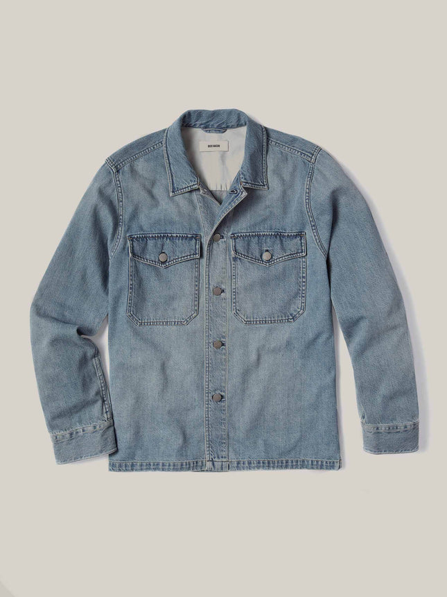 L004 Light Wash Denim Two Pocket Field Shirt