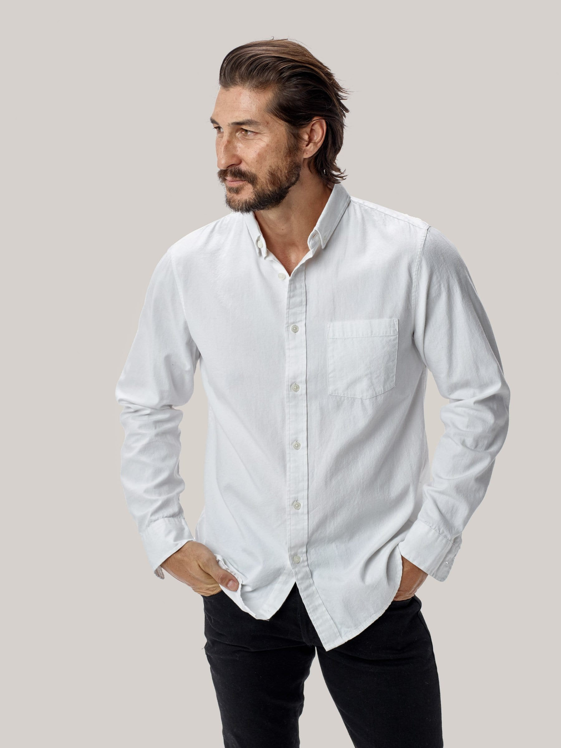 Buck Mason - White Perfect Oxford One Pocket Shirt