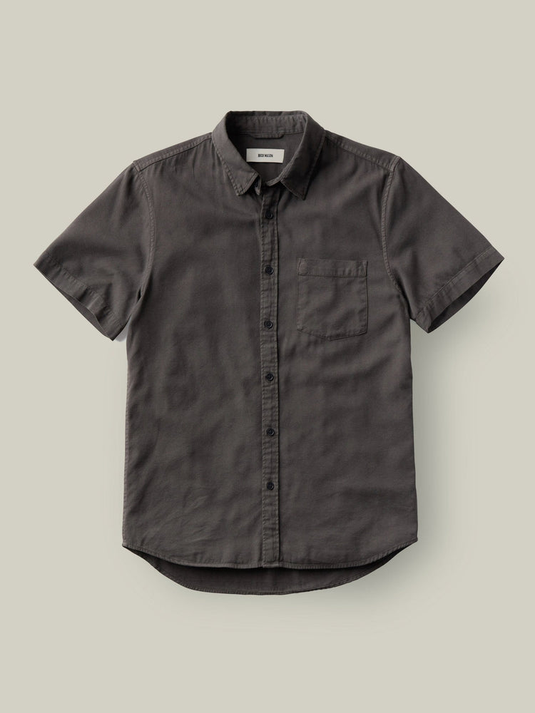 Coal Draped Twill SS One Pocket Shirt