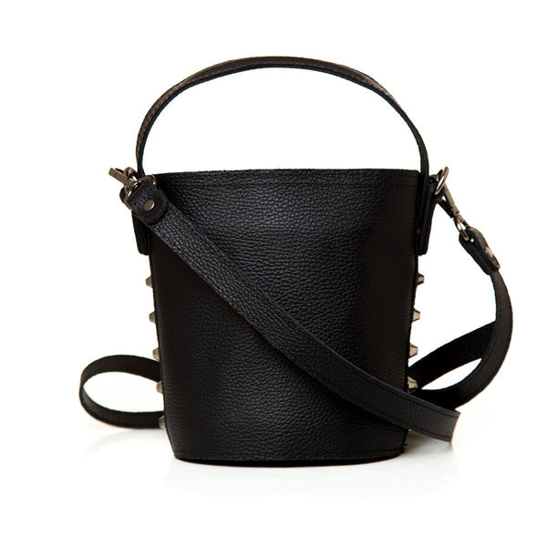 Γυναικεία τσάντα Elena Athanasiou - Basket Small Black