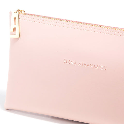Γυναικεία τσάντα Elena Athanasiou - Recycled Leather Clutch baby pink