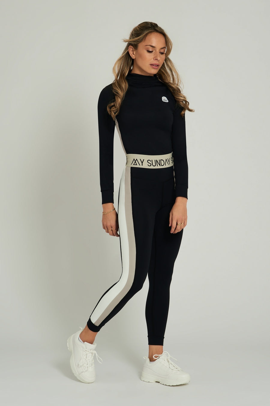 Racer Stripe Black Base Layer Set