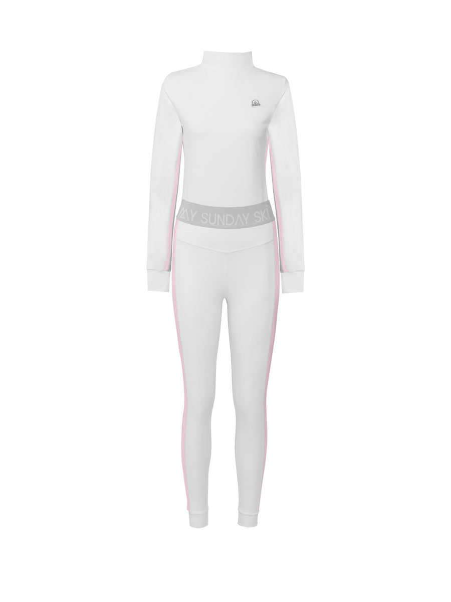Racer Stripe White Base Layer Set
