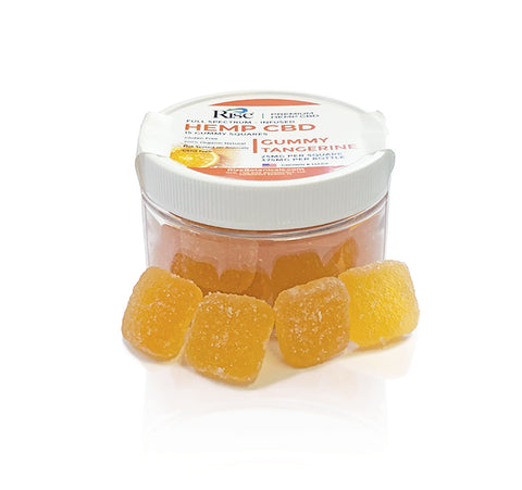 Full Spectrum CBD Tangerine Squares Gummy-25mg