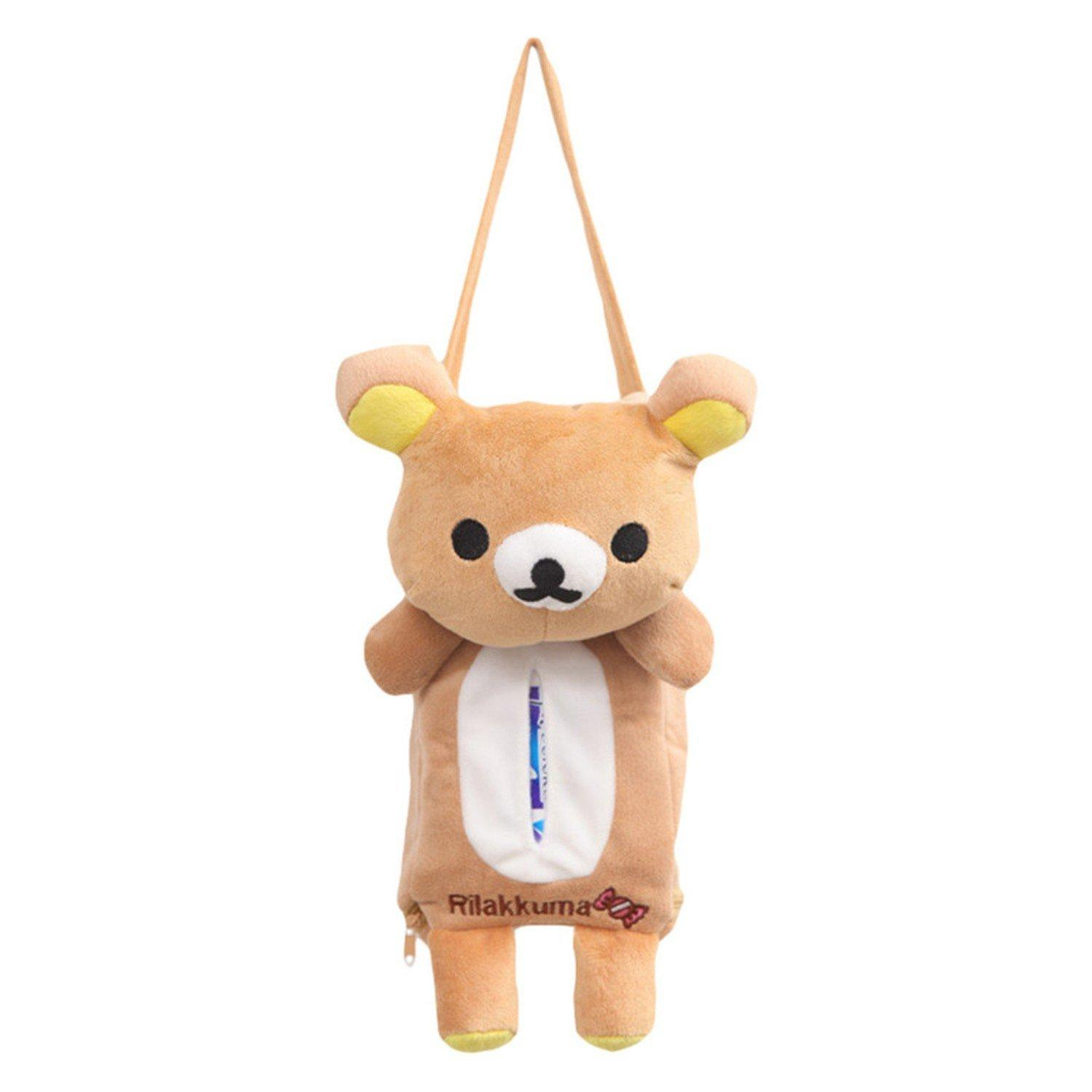 Cute Animal Hanging Car Tissue Box Holder
