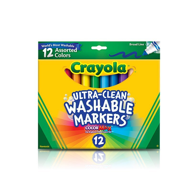 Crayola Washable 12 Assorted Colors Markers