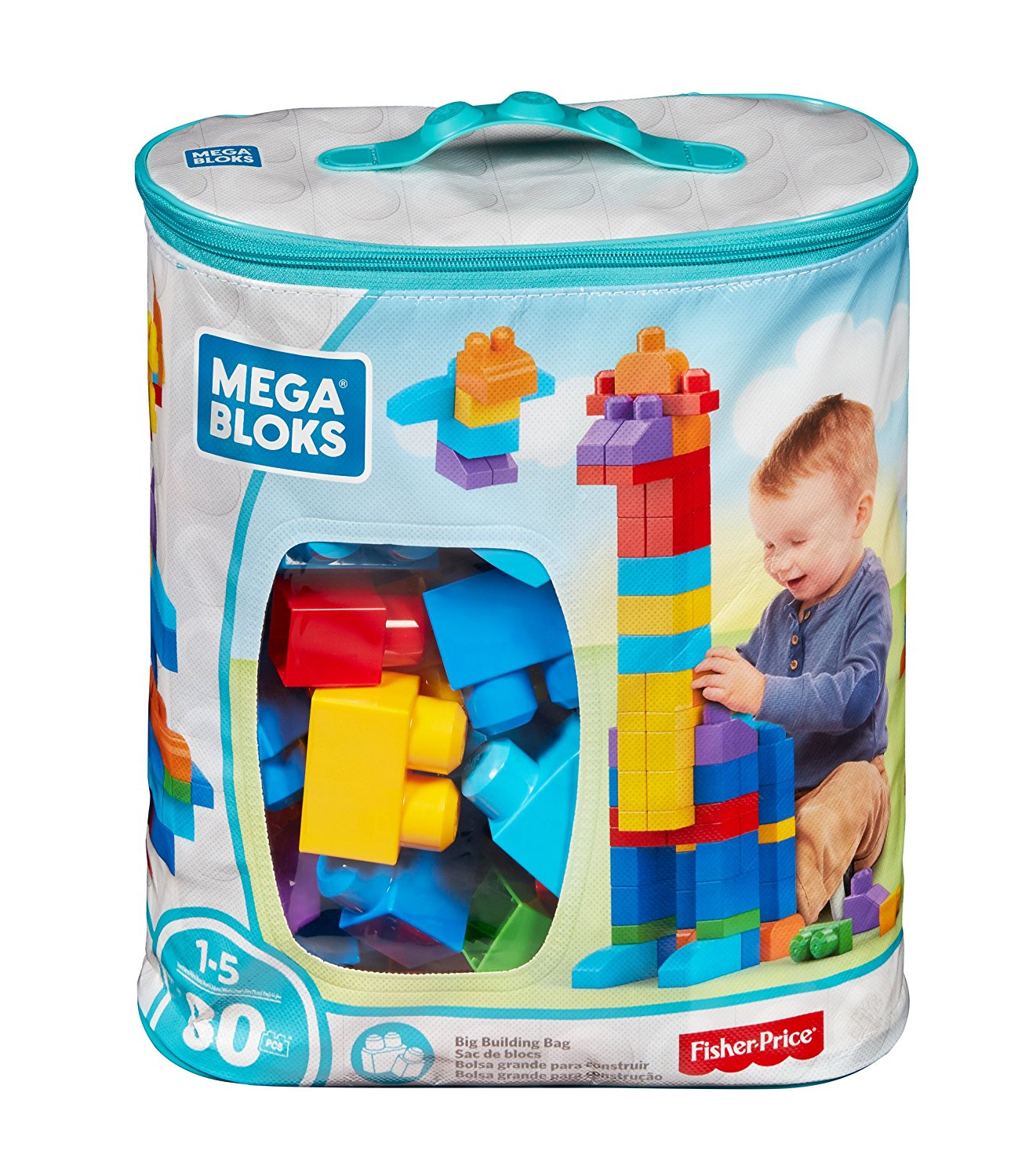 Mega Bloks 80 Piece Big Building Bag Classic