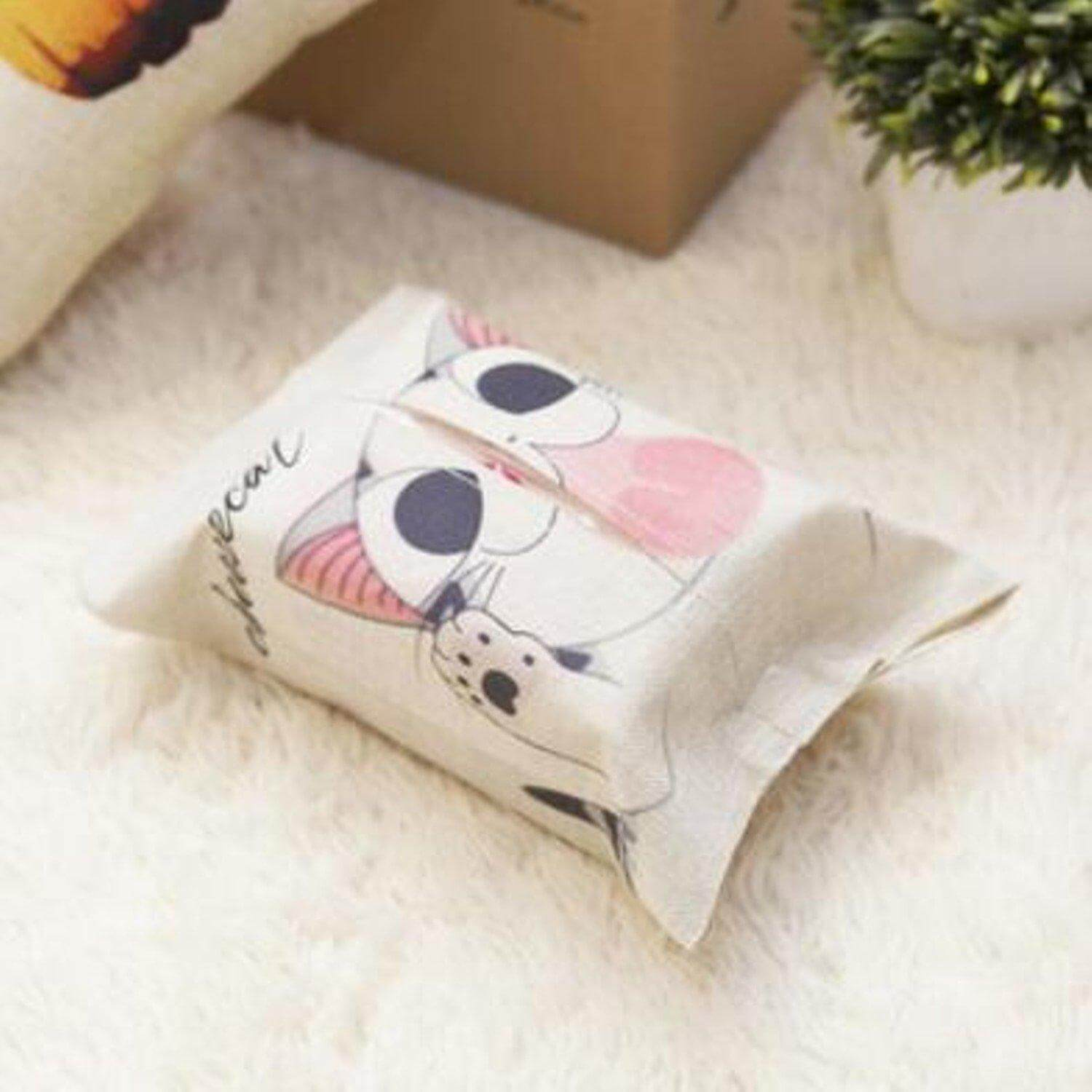 Cute Cartoon Animal Design Tissue Box Cover