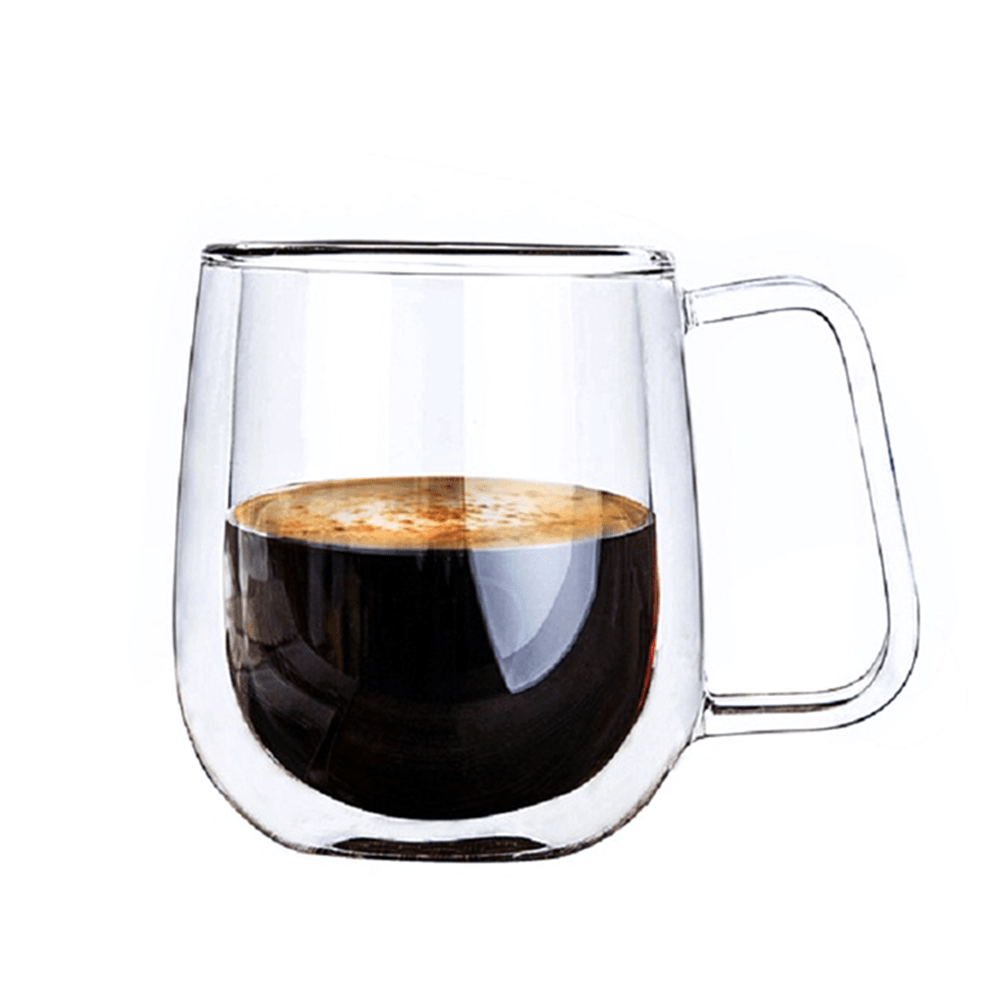 Elegant Double Insulated Glass Cup