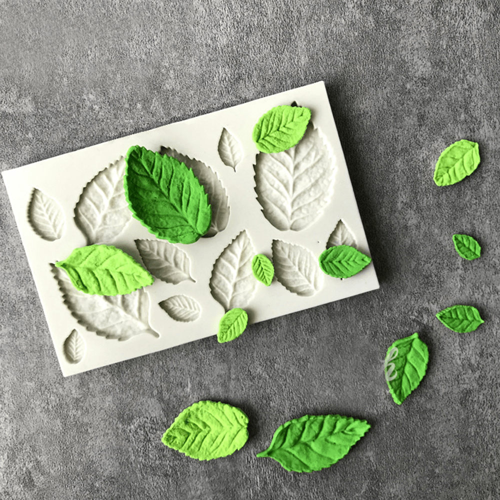 3D DIY Natural Looking Leaf Silicone Mold