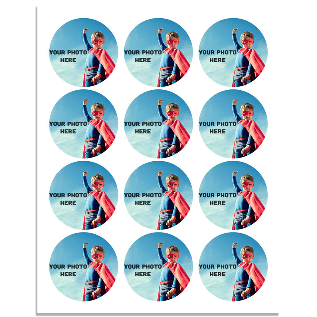 Personalised 40mm Edible Wafer Paper Cupcake Toppers - Pre-cut - SimplyCakeCraft