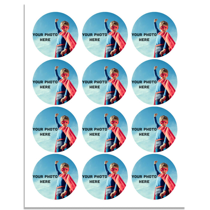 Personalised 40mm Edible Wafer Paper Cupcake Toppers - Pre-cut
