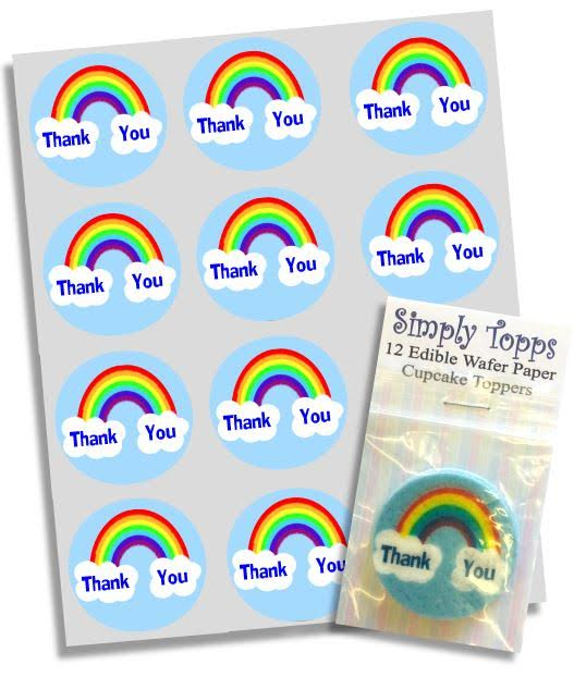 Rainbow Thank You NHS Cupcake Toppers