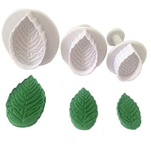 Serrated Leaf Plunger Cutter Set of 3 - SimplyCakeCraft