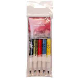 Rainbow Dust Edible Food Art Pen Pack of 5 - SimplyCakeCraft