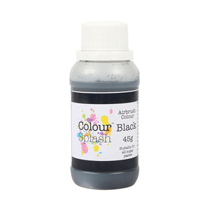 Colour Splash Airbrush Colours Black 45g - SimplyCakeCraft