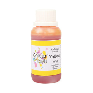 Colour Splash Airbrush Colours Yellow 45g - SimplyCakeCraft