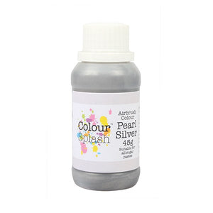 Colour Splash Airbrush Colours Pearl Silver 45g - SimplyCakeCraft