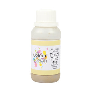 Colour Splash Airbrush Colours Pearl Gold 45g - SimplyCakeCraft