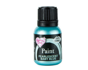 Pearlescent Baby Blue Rainbowdust Food Paint - SimplyCakeCraft
