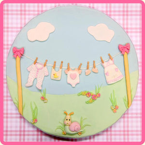 Baby Clothes Washing Line Silicone Mould By Katy Sue - SimplyCakeCraft