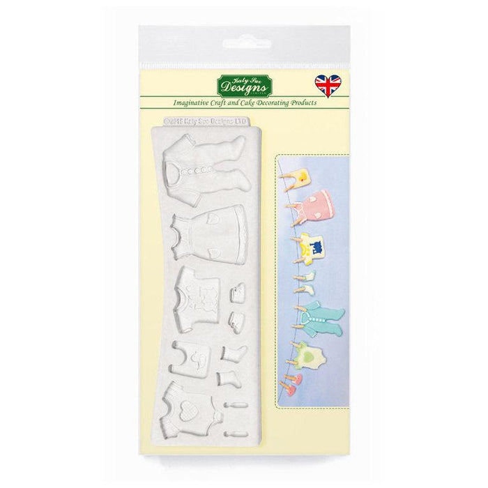 Baby Clothes Washing Line Silicone Mould By Katy Sue