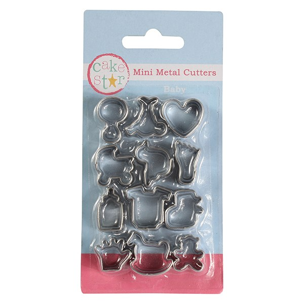 12 Piece Baby Mini Metal Cutters - SimplyCakeCraft