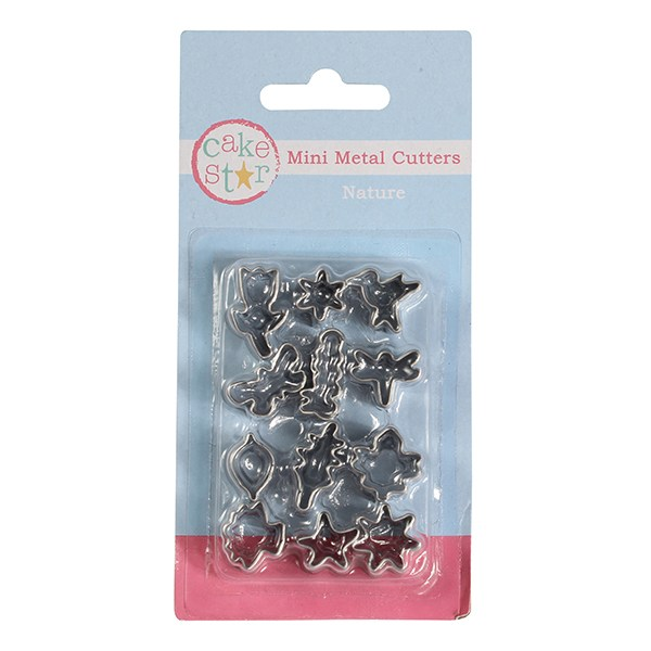 12 Piece Nature Mini Metal Cutters