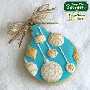 Christmas Baubles Silicone Mould by Katy Sue -  - SimplyCakeCraft